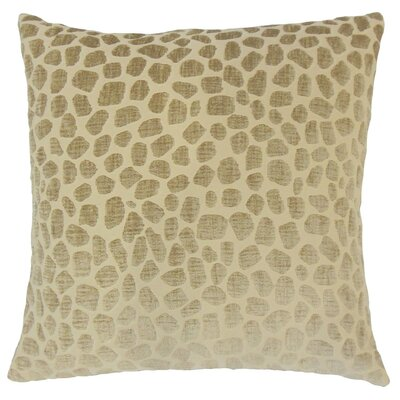 Lameez Throw Pillow Color: Linen, Size: 18 x 18