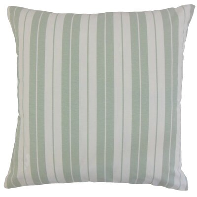 Henley Stripes Bedding Sham Size: Euro, Color: Aqua