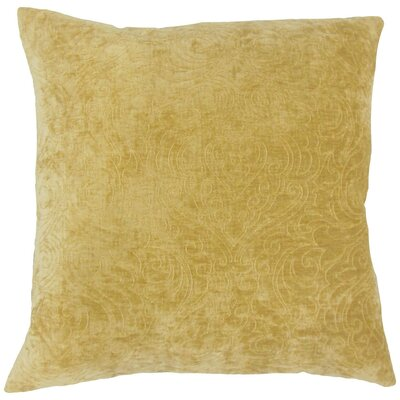 Hertzel Throw Pillow Color: Yellow, Size: 18 x 18
