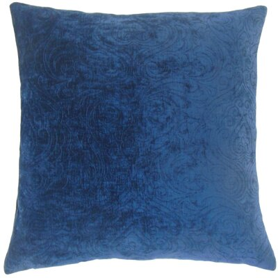 Hertzel Throw Pillow Color: Sapphire, Size: 20 x 20