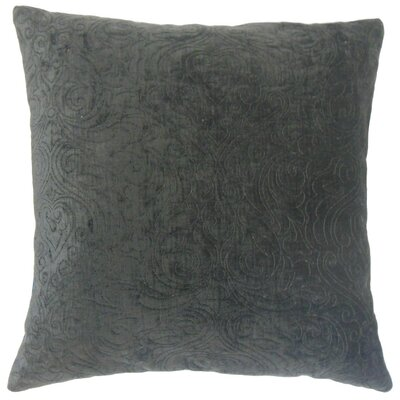 Hertzel Throw Pillow Color: Sapphire, Size: 22 x 22