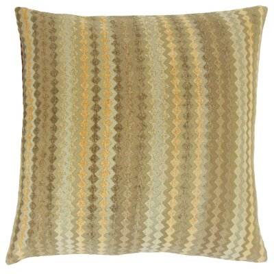 Kawena Throw Pillow Color: Fawn, Size: 18 x 18