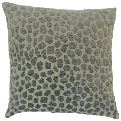 Lameez Throw Pillow Color: Pewter, Size: 18 x 18