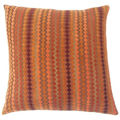 Kawena Throw Pillow Color: Amber, Size: 18 x 18
