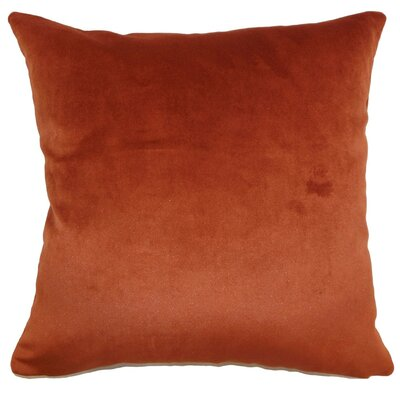 Juno Plain Velvet Throw Pillow Size: 18 x 18