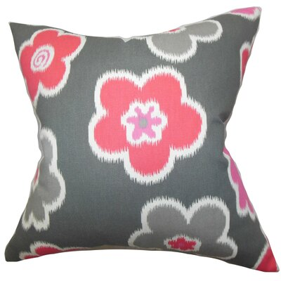 Cece Floral Bedding Sham Size: Euro, Color: Dark Gray