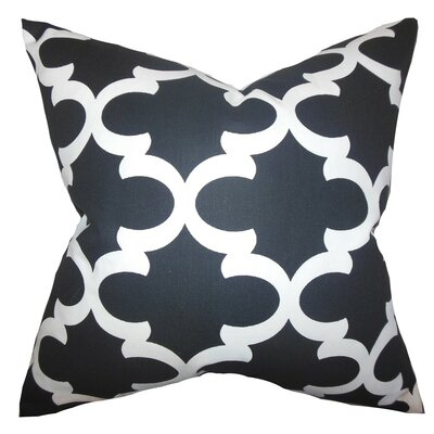 Titian Geometric Bedding Sham Size: Queen, Color: Black/White