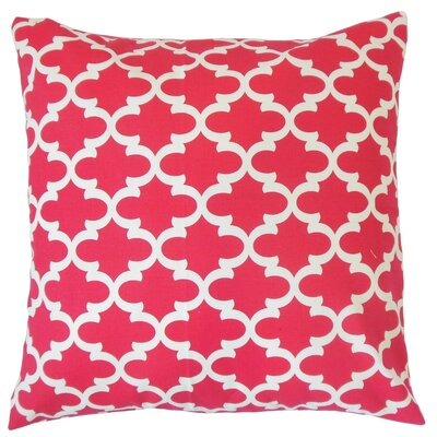 Vilayna Cotton Throw Pillow Color: Red, Size: 24 x 24