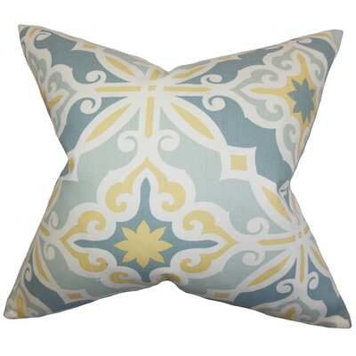 Adriel Geometric Bedding Sham Size: Queen, Color: Blue