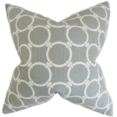 Betchet Geometric Bedding Sham Size: Euro, Color: Ash