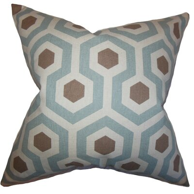 Maliah Geometric Bedding Sham Size: King, Color: Pewter Natural