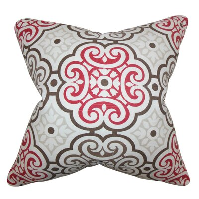 Nascha Geometric Bedding Sham Size: Euro, Color: Red/Blue