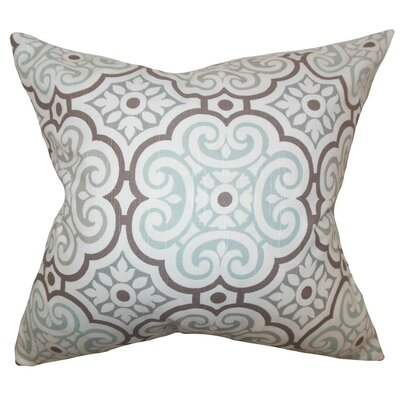 Nascha Geometric Bedding Sham Size: King, Color: Snowy