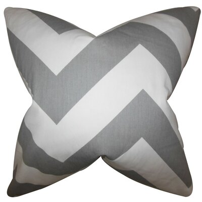 Eir Zigzag Bedding Sham Size: King, Color: Light Gray