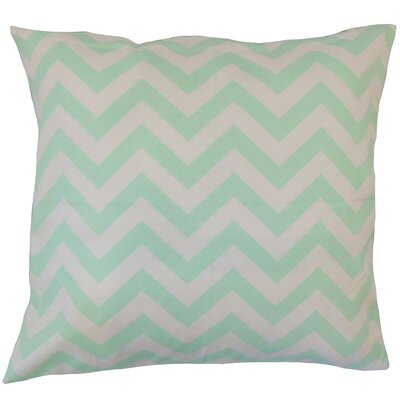 Napowsa Zigzag Cotton Throw Pillow Size: 18 x 18