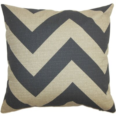 Eir Zigzag Bedding Sham Size: Euro, Color: Gray/Natural