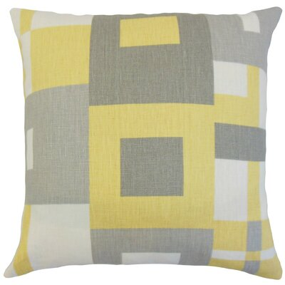 Hoya Geometric Bedding Sham Size: King, Color: Sunrise