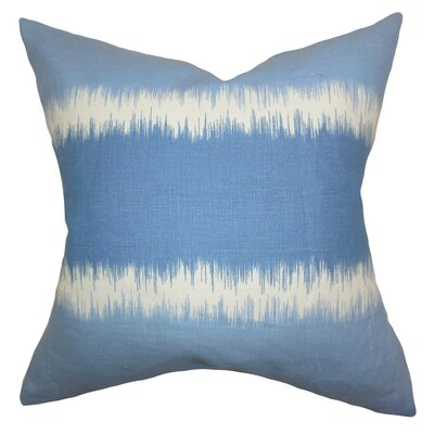 Juba Geometric Bedding Sham Size: Euro, Color: Blue