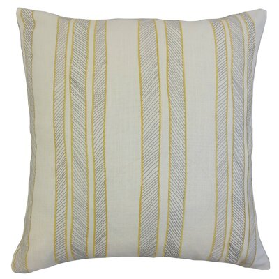 Drum Stripes Bedding Sham Size: Euro, Color: Sunny