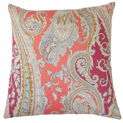 Efharis Paisley Bedding Sham Size: King, Color: Coral Reef