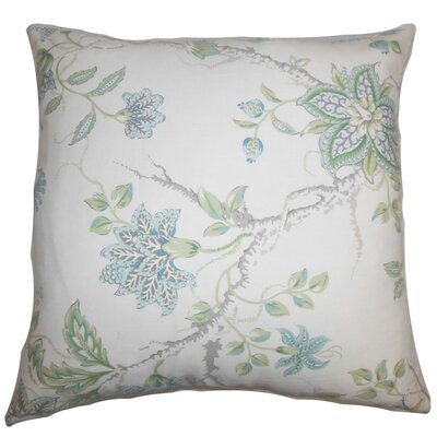 Ululani Floral Bedding Sham Size: King, Color: Blue/White
