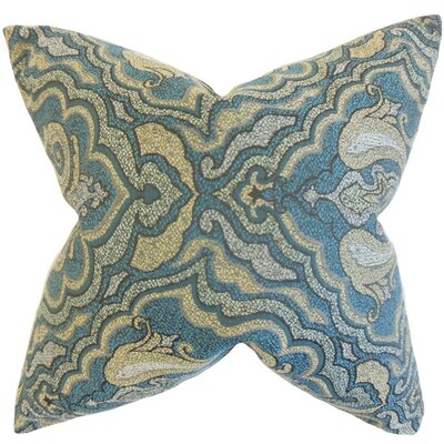 Wystan Throw Pillow Color: Blue, Size: 18 x 18