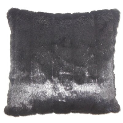 Fancy Mink Faux Fur Throw Pillow Color: Black, Size: 18 x 18