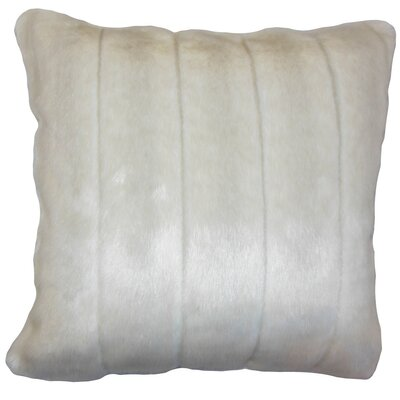 Fancy Mink Faux Fur Throw Pillow Color: Cream, Size: 22 x 22