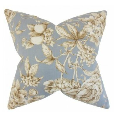 Clare Floral Cotton Throw Pillow Cover