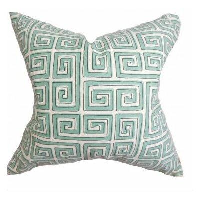 Klemens Geometric Cotton Throw Pillow Cover Color: Blue