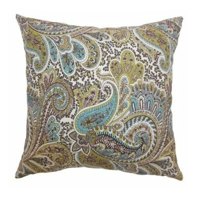 Dorcas Paisley Cotton Throw Pillow Cover