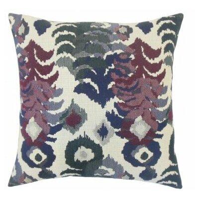 Henriette Ikat Cotton Throw Pillow Cover Color: Indigo