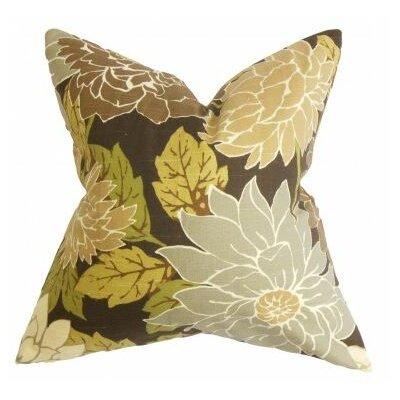 Kerensa Floral Outdoor Throw Pillow Cover Color: Brown