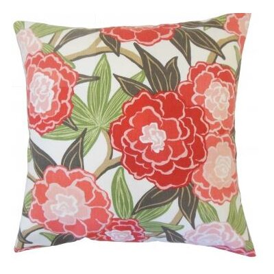Iniabi Floral Cotton Throw Pillow Cover