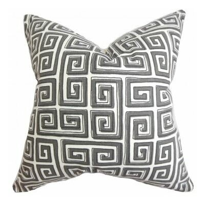 Klemens Geometric Cotton Throw Pillow Cover Color: Gray