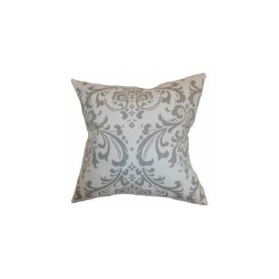 Olavarria Damask Cotton Throw Pillow Cover Color: Storm