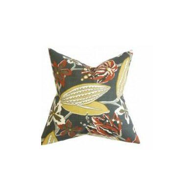 Bryleigh Floral Throw Pillow Cover Color: Red