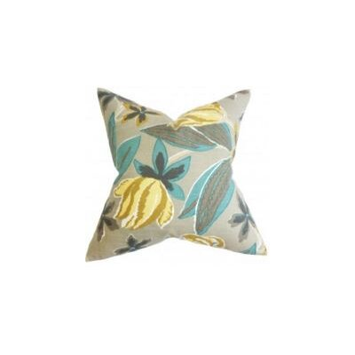 Bryleigh Floral Throw Pillow Cover Color: Gray