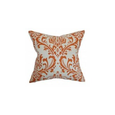 Olavarria Damask Cotton Throw Pillow Cover Color: Orange Natural