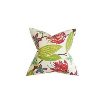 Averill Floral Throw Pillow Cover Color: Pink