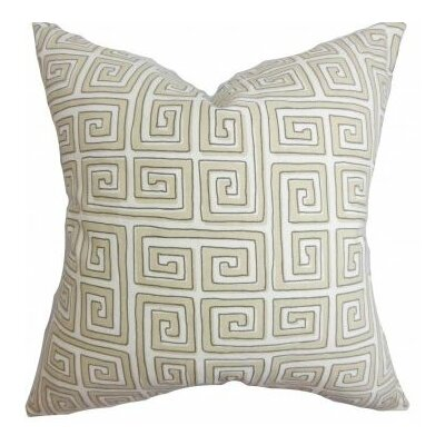 Klemens Geometric Cotton Throw Pillow Cover Color: Natural