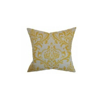 Olavarria Damask Cotton Throw Pillow Cover Color: Corn Yellow