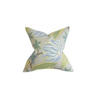 Averill Floral Throw Pillow Cover Color: Blue