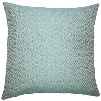 Calanthe Geometric Bedding Sham Size: King, Color: Caribbean