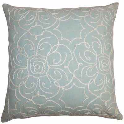 Chalda Floral Throw Pillow Cover Size: 18 x 18, Color: Aqua