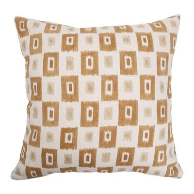 Terence Geometric Floor Pillow Color: Brown