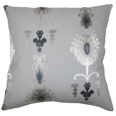 Calico Ikat Bedding Sham Size: Euro, Color: Pewter
