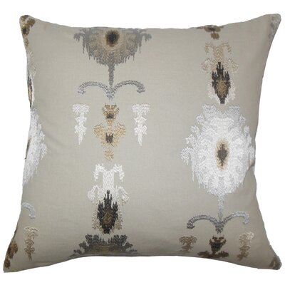 Calico Ikat Bedding Sham Size: Euro, Color: Mushroom