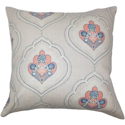 Aafje Floral Throw Pillow Cover Size: 18 x 18, Color: Coral
