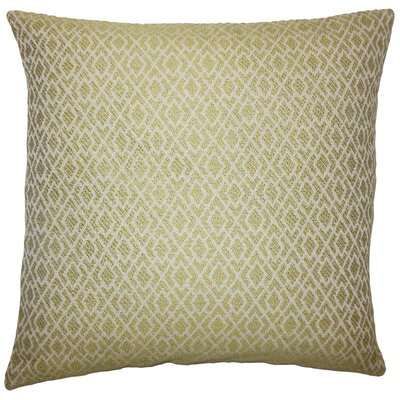 Calanthe Geometric Bedding Sham Size: King, Color: Peridot